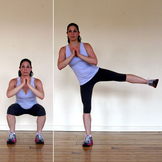 30-Day Squat Challenge — 4 Weeks to 200 Squats has 5 different squats to work different muscles