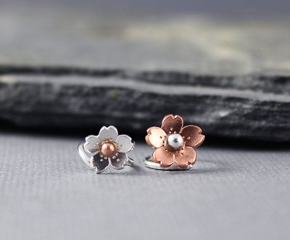 Cartilage Tragus or Rook Hoop Earring Tiny Cherry by HapaGirls. either one is cute!