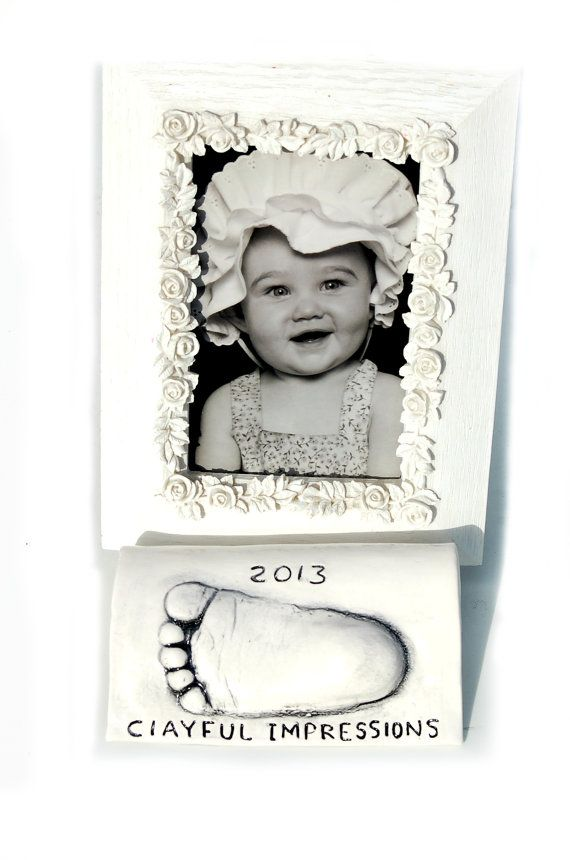 Baby Frame Holder Personalized Hand And By Dprintsclayful On Etsy