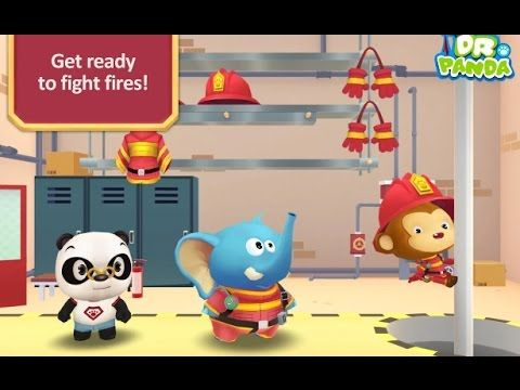 Dr Panda Firefighters Kids Games | Kids Learn what it takes to be a Fire...