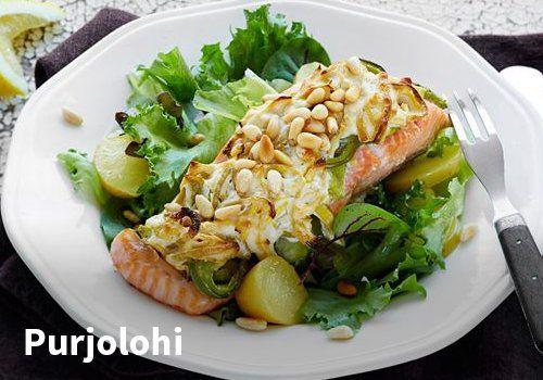 Purjolohi, Resepti: Valio #kauppahalli24 #resepti #purjo #lohi #kala #ruokaanetistä #valio #verkkoruokakauppa
