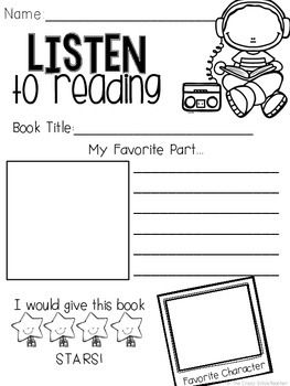 Listen to Reading {Response Sheets}