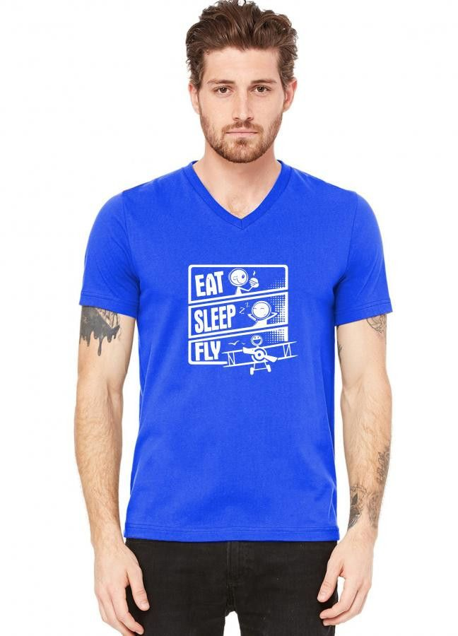 Design by (Budi) Description V-Neck T-shirt You won't want to take off this best-selling unisex tee, featuring a uniquely soft triblend fabrication, modern fit, V-neck and short sleeves printed with U  according presence  laughing creation  zealous human race