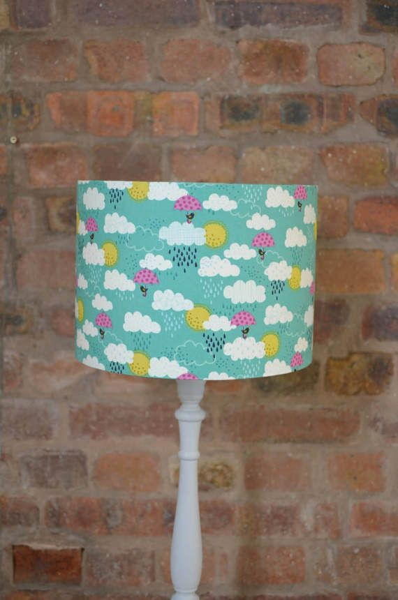 Cloud Lampshade cloud nursery blue clouds blue and pink