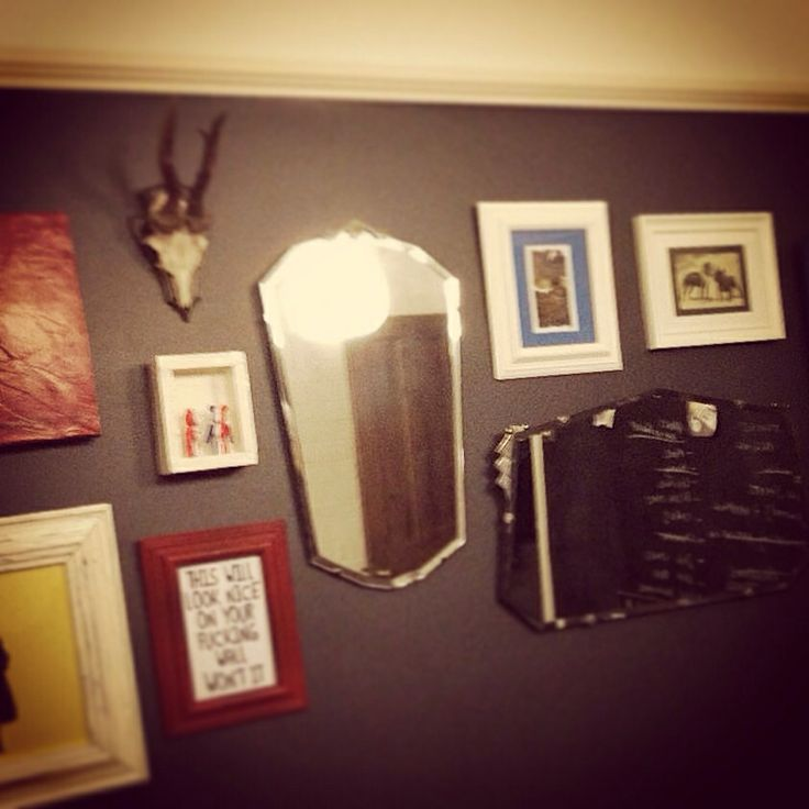 Eclectic wall.