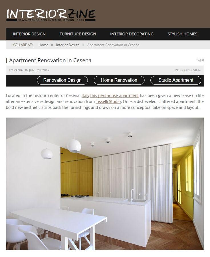 #tissellistudio single family penthouse in Cesena, published by InteriorZine