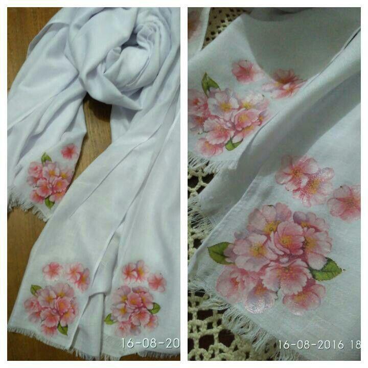 Decoupage on fabric