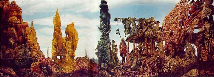 'Europe après la pluie II', huile sur toile de Max Ernst (1891-1976, Germany)