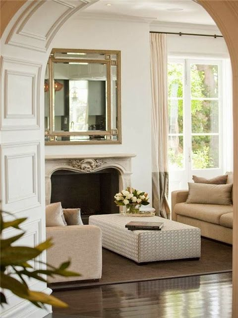 Living Room. South Shore Decorating Blog: What I Love Wednesday (#3) - Lacquer, Linen, and Luxe Rooms