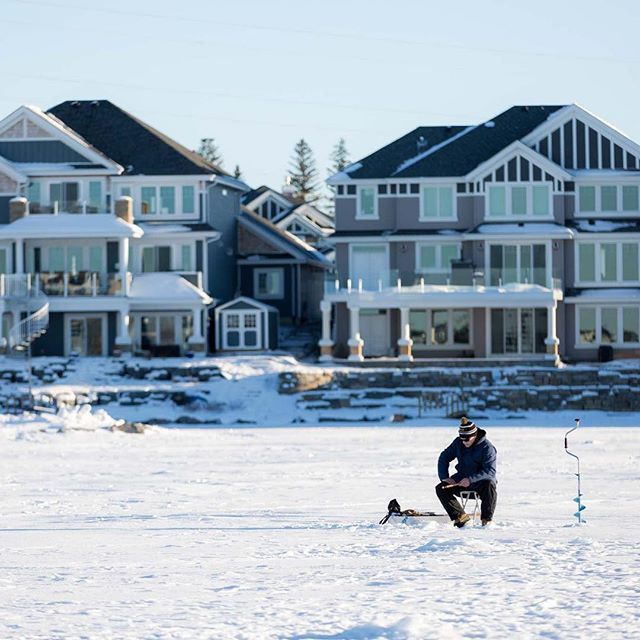 #LakeSummerside is full of activities for all seasons! From fishing off the docks in the summer, to ice fishing in the winter, there's plenty to do.