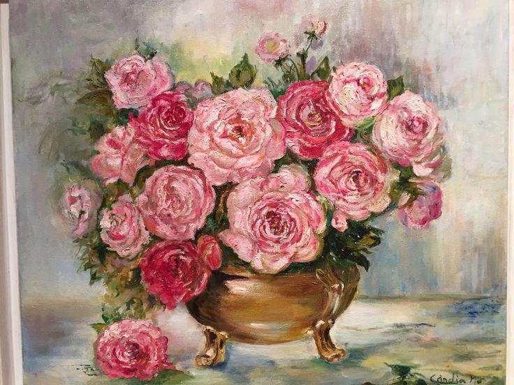 Gerro de roses. Oli (còpia)
