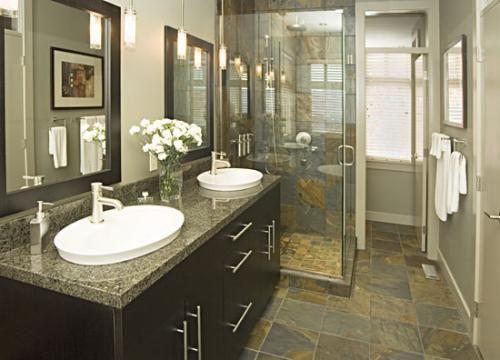 Slate Tile Bathroom | Mind My Beeswax: Bathroom Break!
