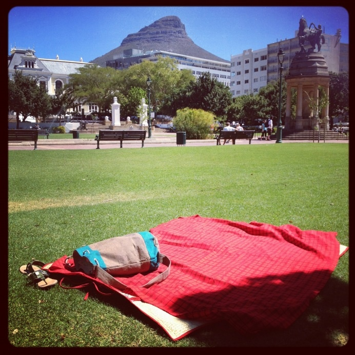 The Company Gardens lawns for a picnic. #thumbsup - just don't lie down.