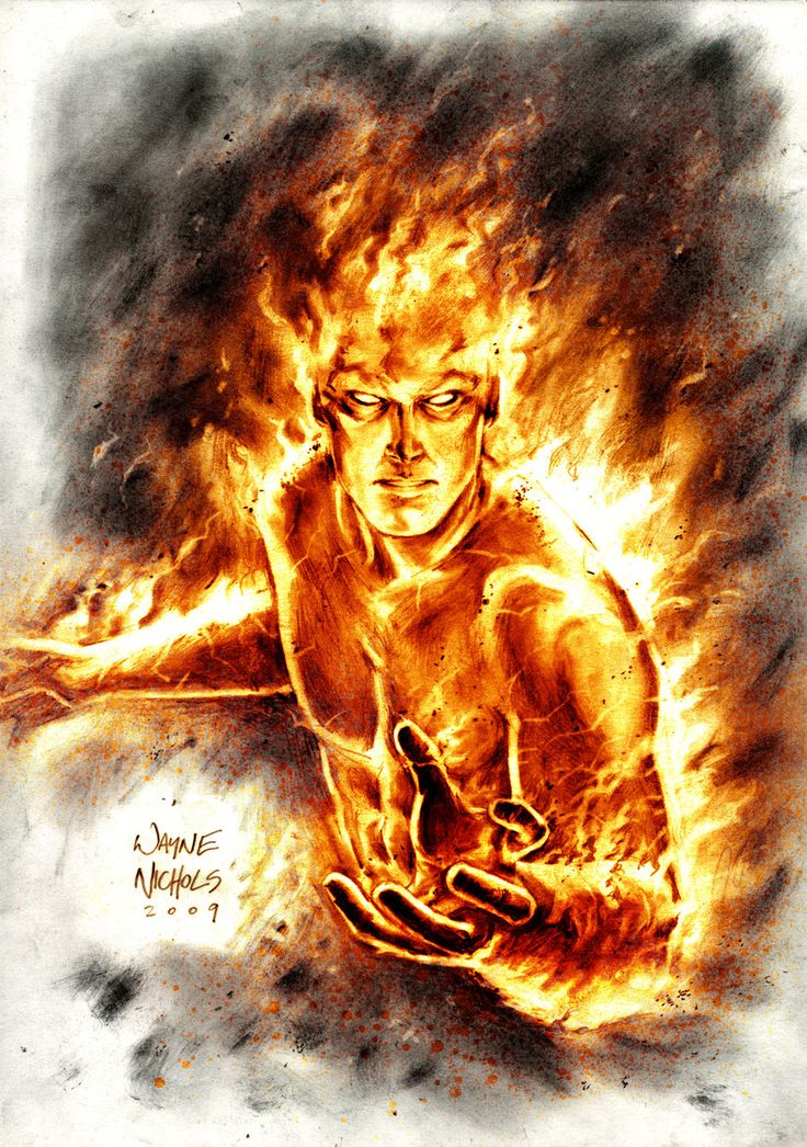 Human Torch by Wayne Nichols