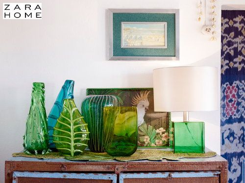 Zara Home Summer Home Decor Trends 2014 Zarahome Glass Vases And Lamp In Tropical Decor