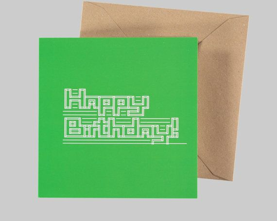 ASCII Happy Birthday Greeting Card - Geek Greeting Cards - Funny Greeting Cards