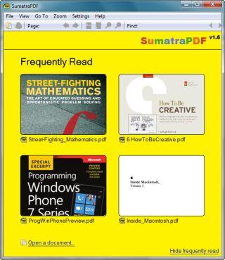 Un lector de PDF libre - Sumatra PDF
