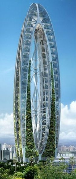 Bionic Arch by Vincent Callebaut Architecture, the competition for Taichung Gateway City Project, Taiwan