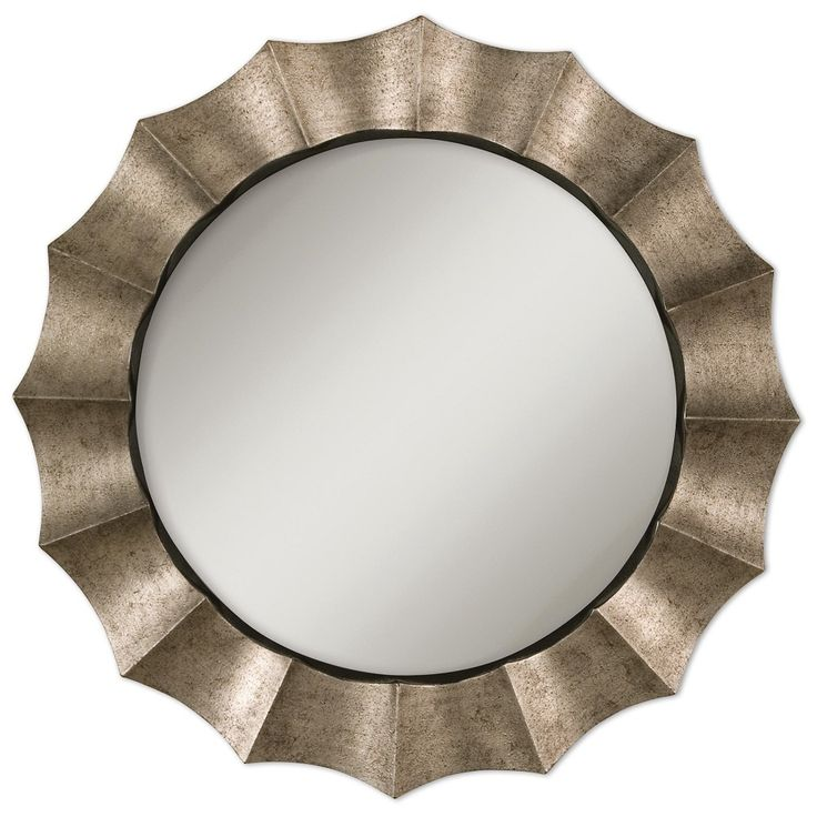 Gotham Antique Silver Decorative Wall Mirror