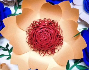 Sale 35% Off Paper Flower Template DIY Paper Flower by APaperEvent