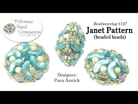 Janet Pattern (Puca) Beaded Beads - YouTube