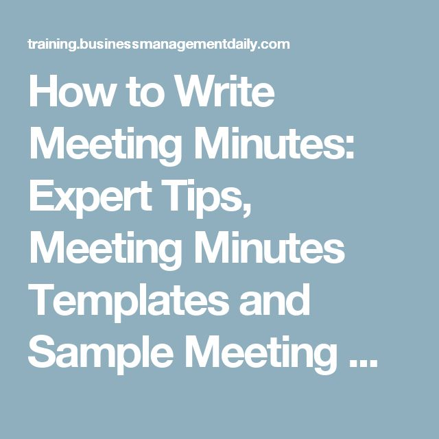 how to write minutes to a meeting