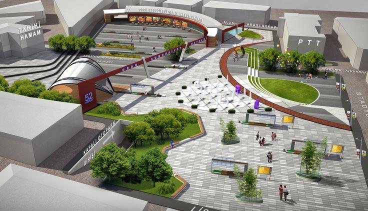 Landscaping Project Plan : Cumhuriyet meydan more urban planning landscape design