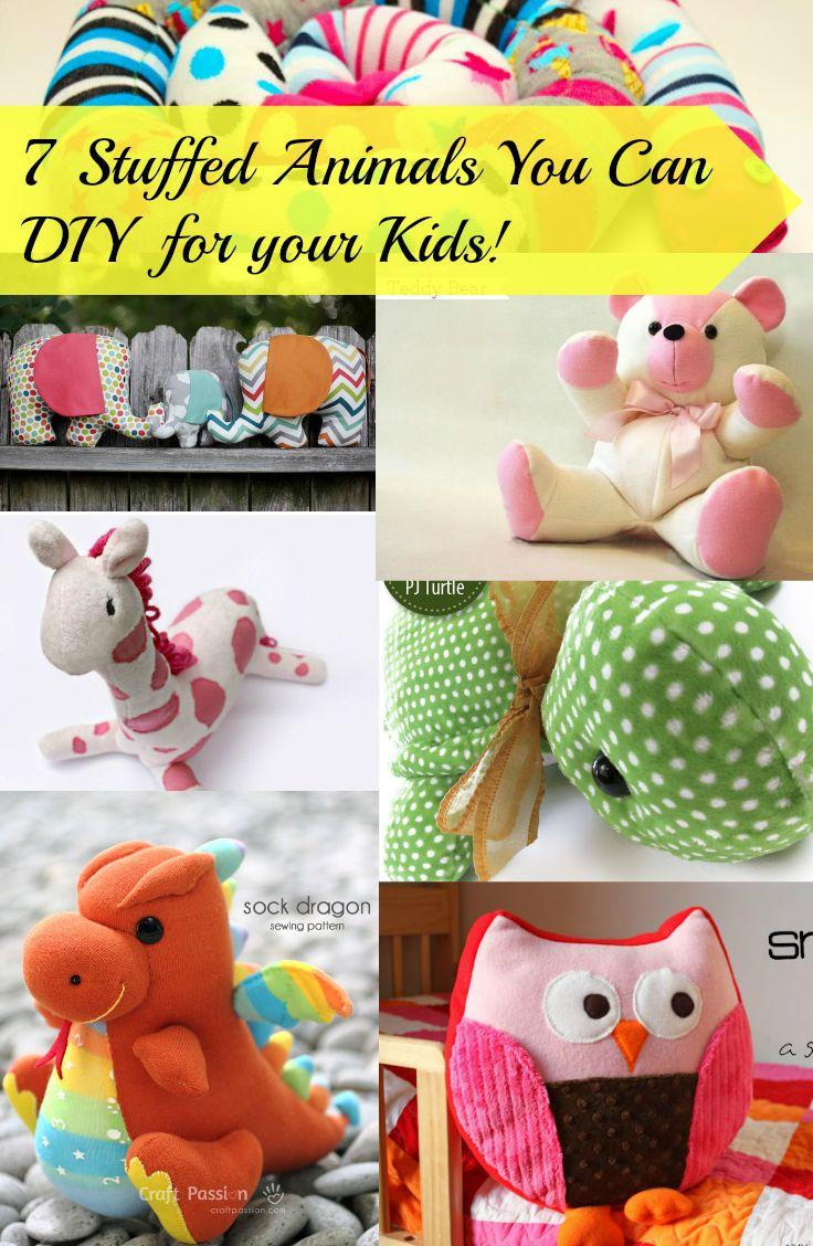 7 stuffed animals you can diy for your kids sy leksaker for Sewing templates for stuffed animals