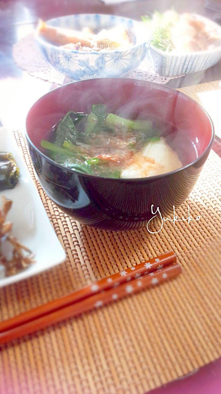 ゆきこ's dish photo 名古屋のお雑煮 | http://snapdish.co #SnapDish #レシピ #おもち料理グランプリ2015 #お正月