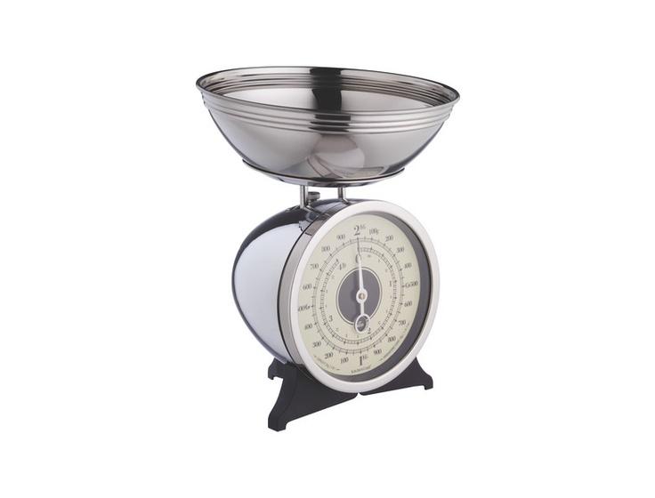 Scale kjøkkenvekt i krom. Kr. 710,-
