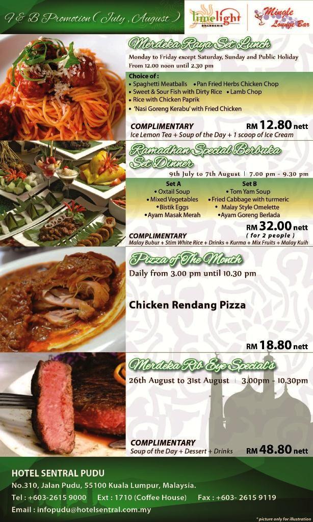 Merdeka Raya Promotion @ Hotel Sentral Pudu, Kuala Lumpur    For reservation/enquiry, please contact us via Tel: +603 - 2615 9000