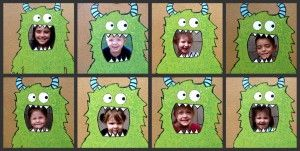monster toss/ photo booth