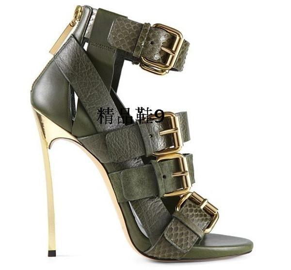 Luxury Gold Heel Women High Heel Shoes