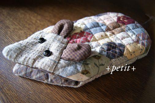 スクラップキルトのバッグ : +petit+