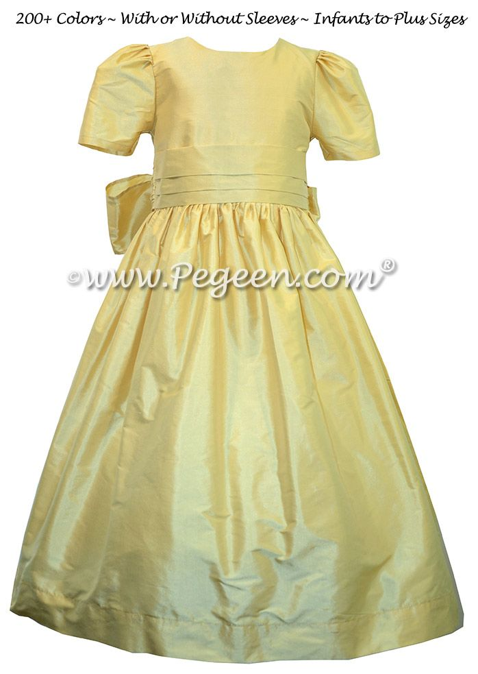 166 best yellow flower girl dresses images on pinterest dresses dandelion yellow silk flower girl dresses style 318 mightylinksfo