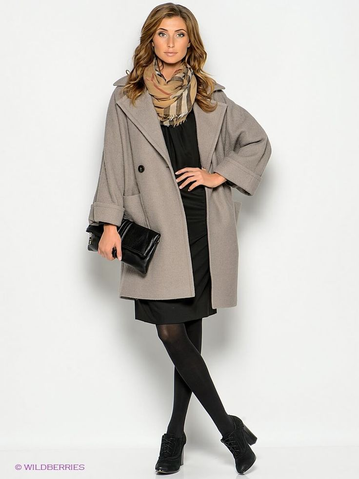 Женское укороченное драповое  пальто-реглан