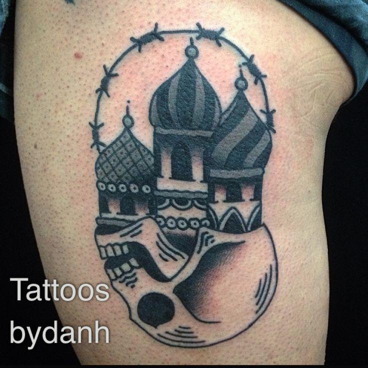 tatuagem de caveira russa