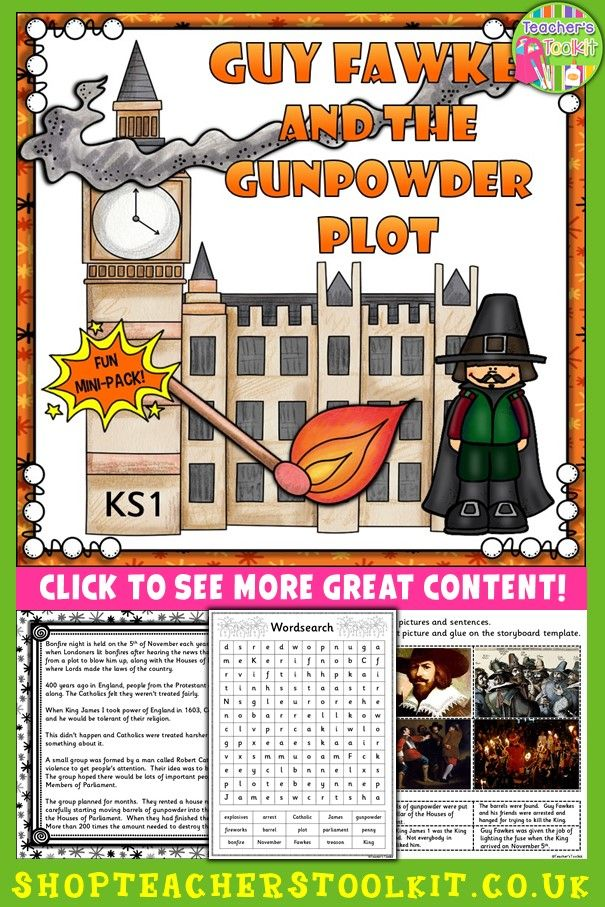 This mini-pack provides you with all you need to teach pupils the story of Guy Fawkes and the gunpowder plot. Included is a bonus fun wordsearch! This little pack is suitable for Years 2 and 3.