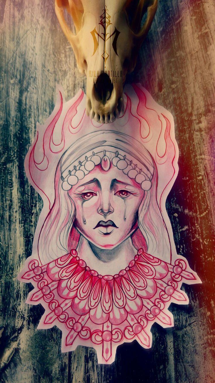 My next proyect its gonna fire!! #art #tattooidea #milamantilla #tattooback #blackink #tattooaddicts #phototattoo #bones #sadnessgirls