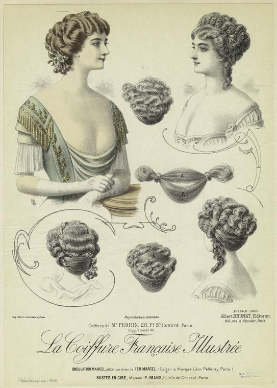 Coiffures de Mr. Perrin, 28, Fg. St. Honoré, Paris. (1910)