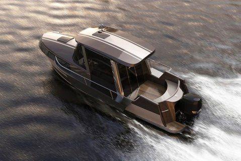 """""""Oubliez le pêche-promenade rustique en ligne d'arbre. Le chantier taïwanais Hyperlien Yacht revisite l'image du timonier de balade et petite croisière avec un modèle neo-rétro : le Modern Vintage.""""  Merci beaucoup, Rédaction Moteur Boat.  The article from the leader of French powerboat magazine - Rédaction Moteur Boat! http://www.moteurboat.com/actualite/infos/hpl-yacht-modern-vintage.html"""