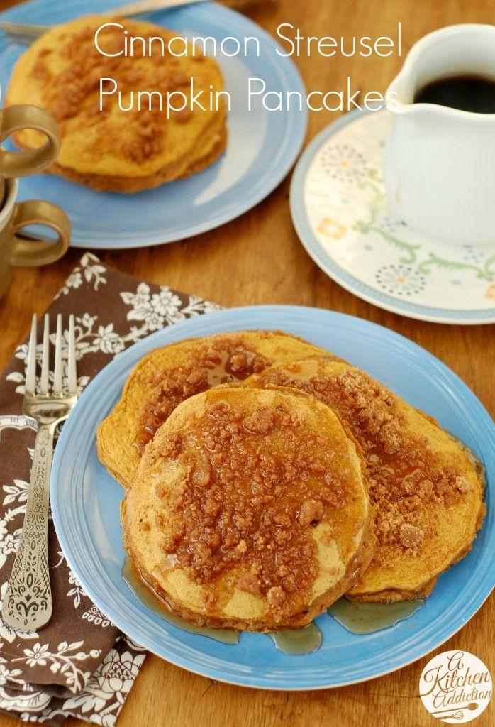 ... Pumpkin Pancakes, Pumpkins, Cinnamon Streusel, Cinnamon Pancakes