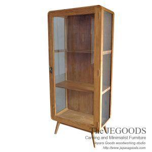 Lemari Sherina Retro Display Cabinet Scandinavia Vintage Jepara Mebel retro furniture. Model lemari pajangan retro scandinavia Jepara Woodworking Factory.