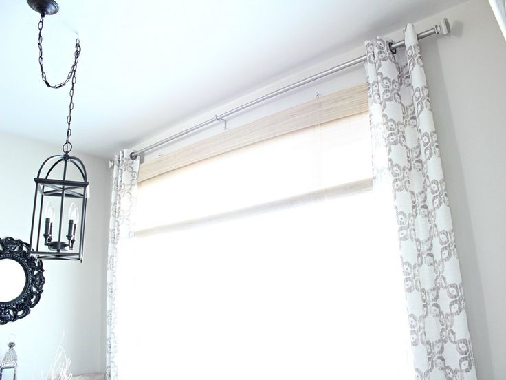 Breakfast Nook Curtains - love the grommets and the pattern!