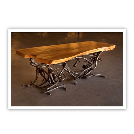 104 best metal wood concrete furniture images on pinterest for Craft in america forge