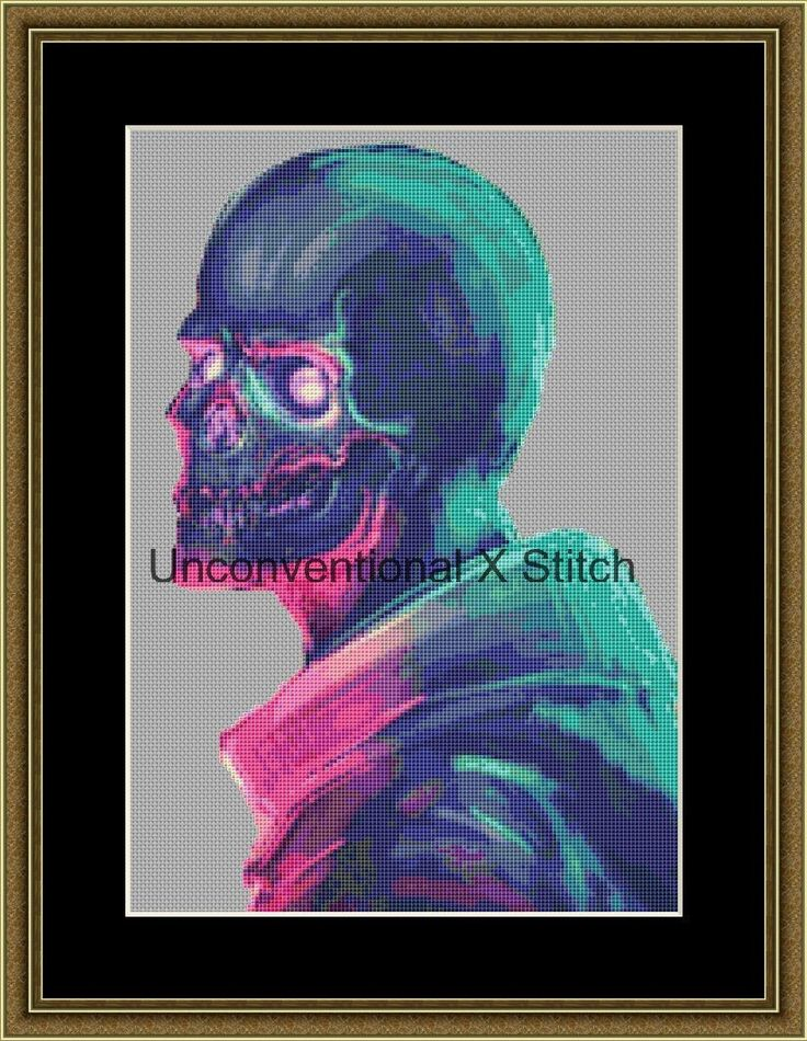 Rainbow Skeleton counted cross stitch pattern - Skully July - Licensed Marius 'noistromo' Siergiejew by UnconventionalX on Etsy