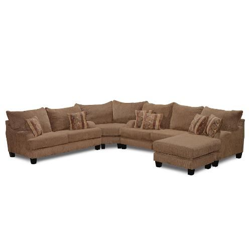 Clearance Casual Classic Brown 3 Piece Sectional Sofa
