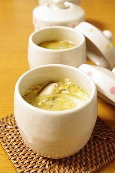 豆腐レシピ♡蒸し器要らずのぷるぷる茶碗蒸し♪豆腐入り