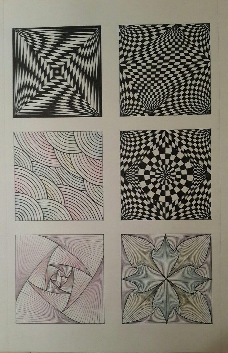 #композиция #иллюзия #draw #рисунок #динамика #ритм #статика #цветные #карандаши #чёрная #ручка #pinterest