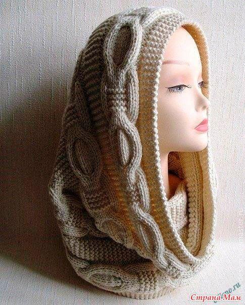 Подборка: оригинальные шарфы снуд спицами – схемы и описания. - Страна Мам